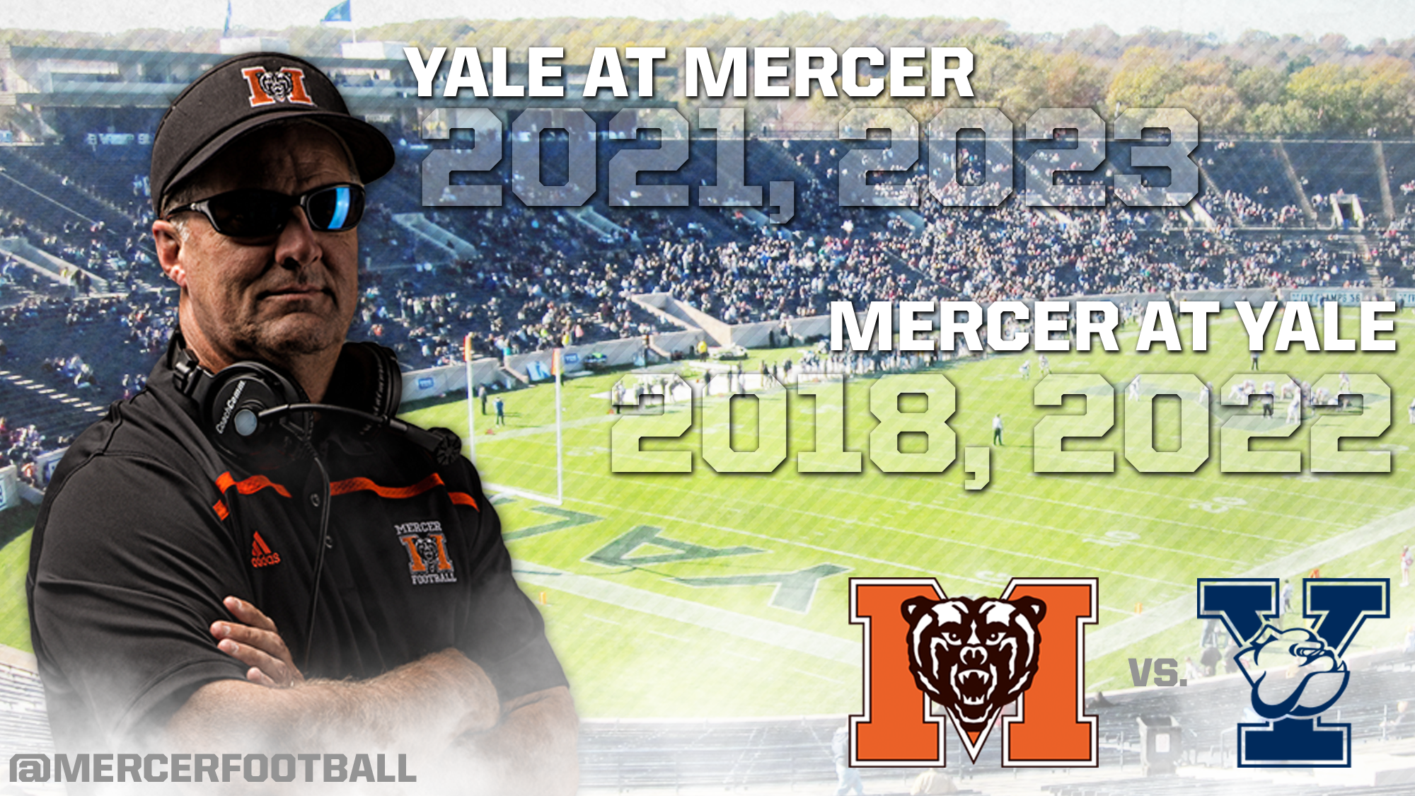 Mercer and Yale Ink Four Game Football Series Beginning in 2018