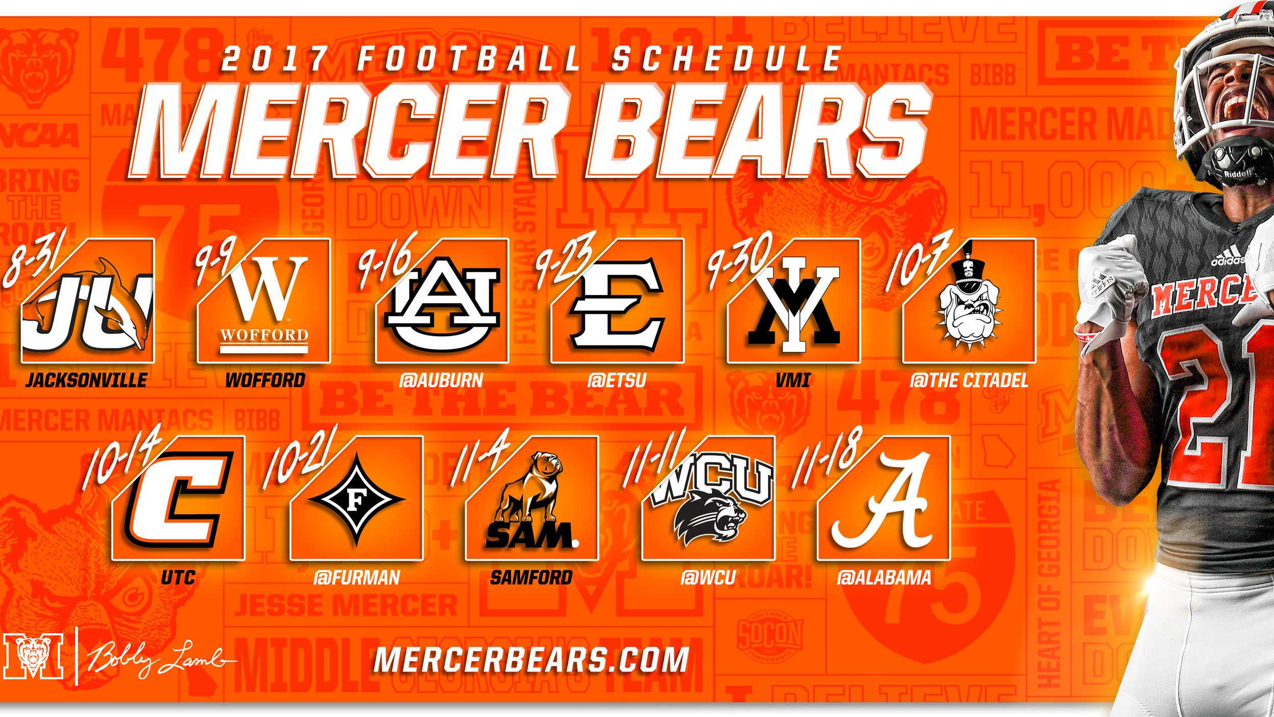 Mercer Unveils 2017 Football Schedule Mercer University Athletics