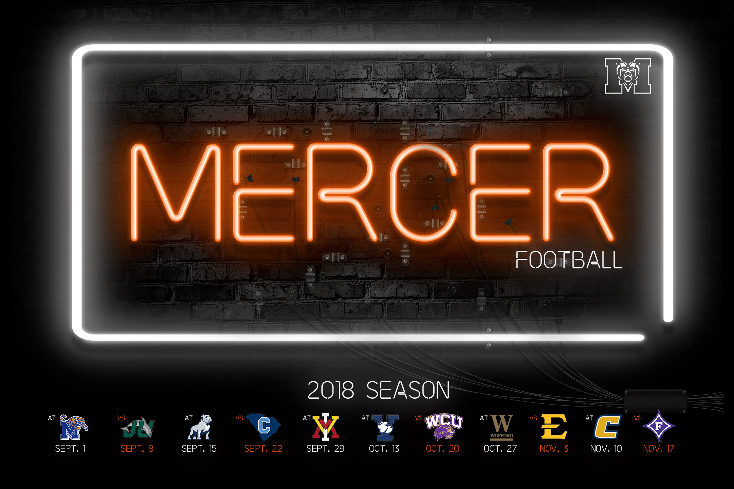 Mercer Unveils 2018 Football Schedule Mercer University Athletics